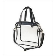 Carryall Tote - Clear PVC with Black