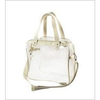 Carryall Tote - Clear PVC with Tan