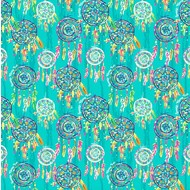 "Oracal 651 Patterned Adhesive Vinyl - Dreamcatcher Green 12"" x 12"" sheet"