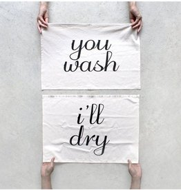 Blackbird Tees You Wash, I'll Dry Tea Towel Set