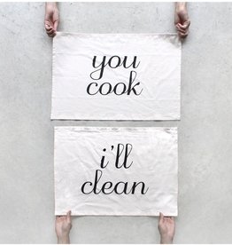 Blackbird Tees You Cook I'll Clean Tea Towel Set