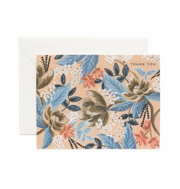 Rifle Paper Co. Blue Floral Thank You Card