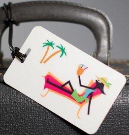 R. Nichols Tropical Vacation Luggage Tag