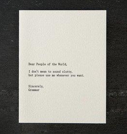 Sapling Press People?Grammar Card
