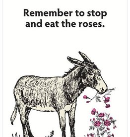 Seltzer Donkey Stop And Smell The Roses Card