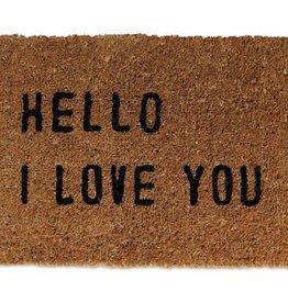 Sugarboo Designs Hello I Love You Door Mat