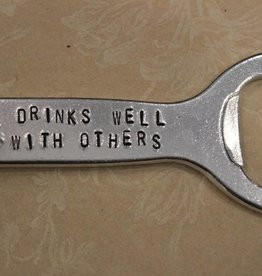 "Kimberly Monaco Designs ""Drink Well With Others"" Bottle Opener Keychain"