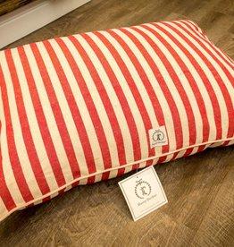 Harry Barker Medium Hemp Vintage Stripe Envelope Bed in Red