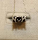 Beth Macri Silver MOM Hidden Messsage Necklace