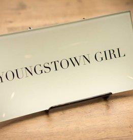 Ben's Garden Youngstown Girl Decoupage Glass Tray
