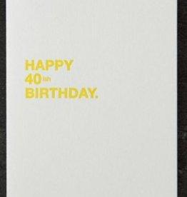 Sapling Press Make A Wish-40ish  Card