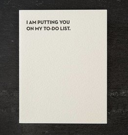 Sapling Press Moment Of Truth-To Do List Card