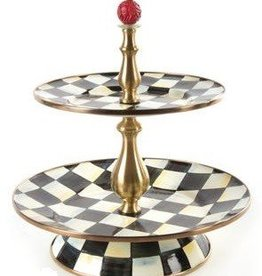 MacKenzie-Childs Courtly Check Two Tier Sweet Stand