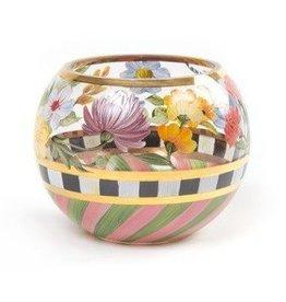 MacKenzie-Childs Flower Market Glass Globe Vase Small
