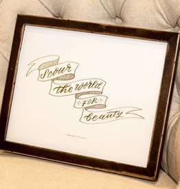 The Everygirl Scour The World Framed Print-Gold