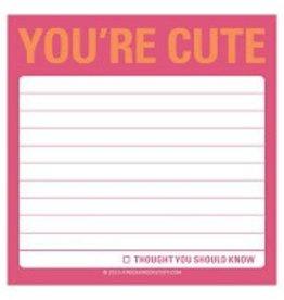 Knock Knock You're Cute Sticky Note