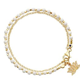 Astley Clarke Lotus Friendship Bracelet