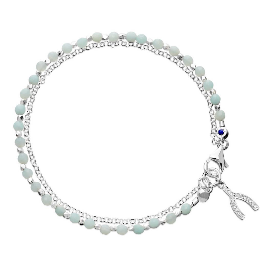Astley Clarke Silver Wishbone Friendship Bracelet