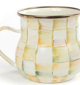 MacKenzie-Childs Parchment Check Enamel Mug