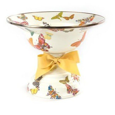 MacKenzie-Childs Butterfly Garden Large Compote