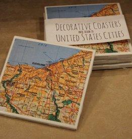 Vintie Design Co. Cleveland Coaster Set (4)