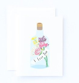 Paula & Waffle Message in a Bottle Love Card