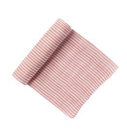 Pehr Stripe Swaddle- Light Pink