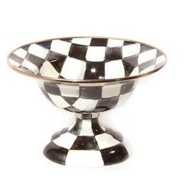 MacKenzie-Childs Courtly Check Enamel Compote- Small