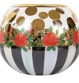 MacKenzie-Childs Heirloom Glass Globe Small Vase