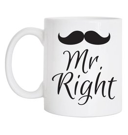 Tickled Teal Mr Right Mug