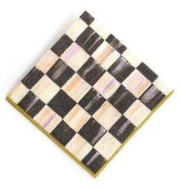 MacKenzie-Childs Courtly Check Cocktail Napkins-Gold