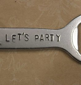 "Kimberly Monaco Designs ""Let's Party"" Bottle Opener Keychain"