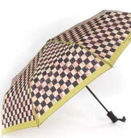 MacKenzie-Childs Courtly Check Travel Umbrella