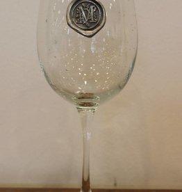 Southern Jubilee Stem Wine Glass-Initial M