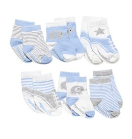 Elegant Baby Socks. Cutie Blues. 6Pk