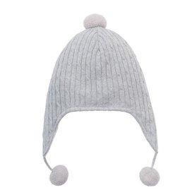 Elegant Baby Grey Aviator Hat 0-12 Months
