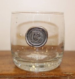 Southern Jubilee Double Old Fashion Glass- Initial G