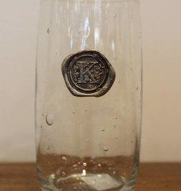 Southern Jubilee Ice Tea Glass- Initial K