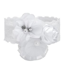Elegant Baby Couture Headband- White