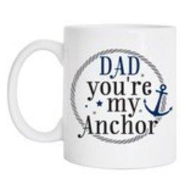 Tickled Teal Dad Anchor Mug