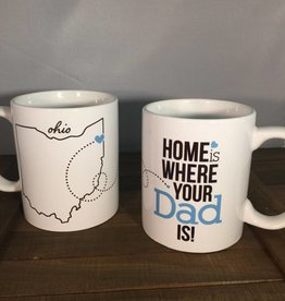 Tickled Teal Home Is Where Your Dad Is Mug