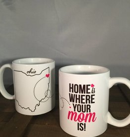 Tickled Teal Home Is Where Your Mom Is Mug
