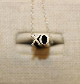 Beth Macri Silver XO Hidden Message Necklace