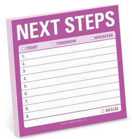 Knock Knock Next Steps Sticky Notes