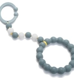 Chewbeads Chewbeads Baby Gramercy Stroller Toy/Car Seat Attachment - Stormy Grey