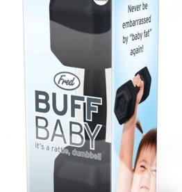 Fred & Friends Buff Baby Dumbell Rattle