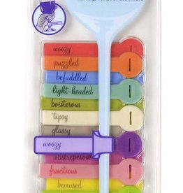 Fred & Friends Wine Lines Glass Tags Euphemisms
