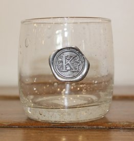 Southern Jubilee Double Old Fashion Glass-Initial K