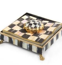 MacKenzie-Childs Courtly Check Cocktail Napkin Holder Set