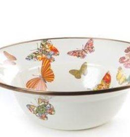 MacKenzie-Childs Butterfly Garden Serving Bowl-White
